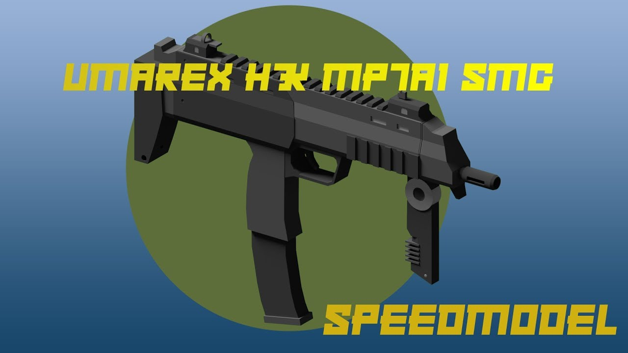 MP7A1 SMG (Speedmodel) || Blender