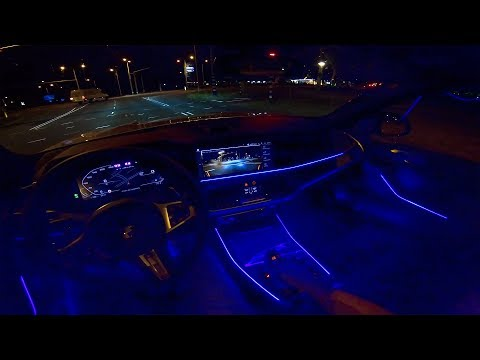 BMW X7 AMBIENT LIGHTING Interior NIGHT DRIVE POV by AutoTopNL