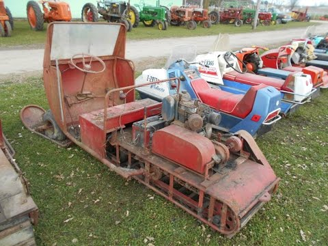 Over 200 Vintage Snowmobiles Sold on Zumbrota, MN collector auction Saturday