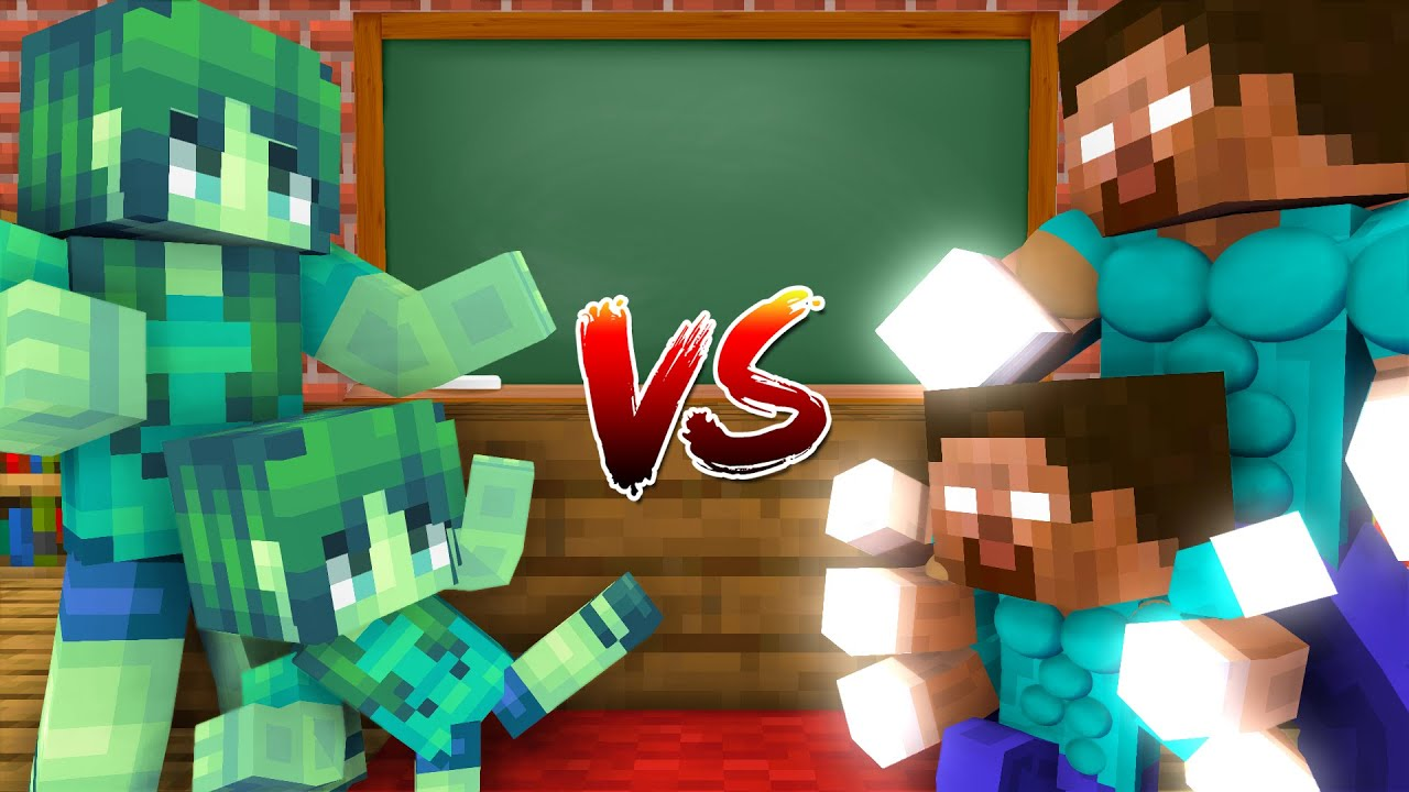 Monster School : Epic Family Battle - Minecraft Animation