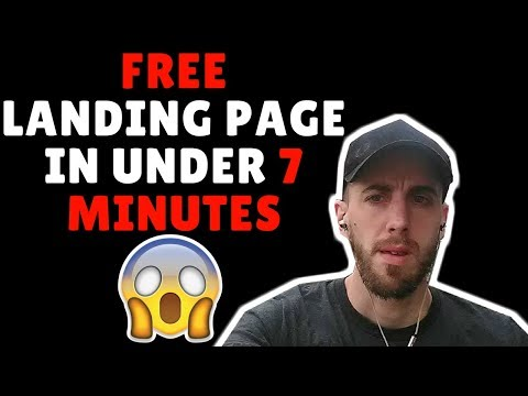 How to create a free landing page in Under 7 Minutes
