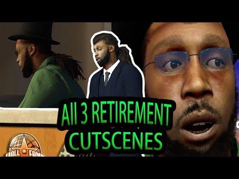 NBA 2K17 THREE DIFFERENT RETIREMENT CUTSCENES & HALL OF FAME SPEECH
