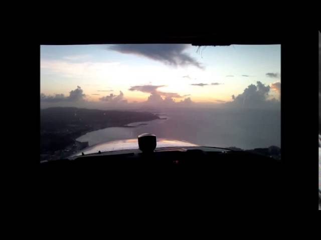 Guam international airport traffic pattern by Cessna 172 From Engine start to shout down