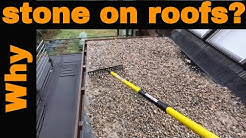 What is the stone for on a flat roof?  What kind of protection should you use for EPDM, TPO or Torch