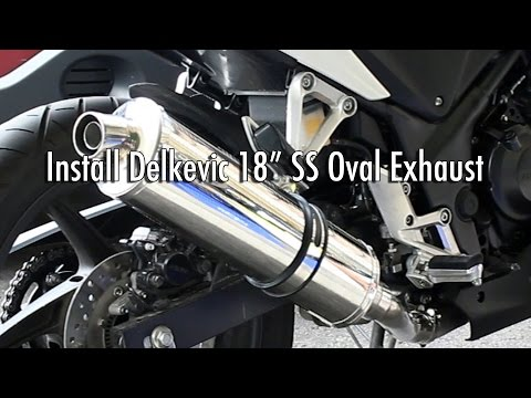 Slip On Exhaust Silencer Install - CBR250R Motorcycle