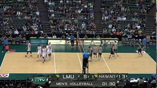 LMU vs Hawaii Game 2 of 3 Men's Volleyball - 20190217