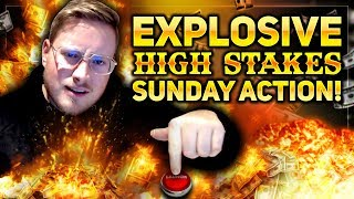 EXPLOSIVE HIGH STAKES SUNDAY ACTION!!!   PokerStaples Stream Highlights