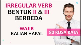 Download lagu KOSA KATA IRREGULAR VERB | BENTUK II DAN III BERBEDA #1