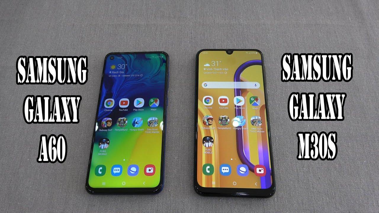 Samsung Galaxy A60 vs Samsung Galaxy M30s   SpeedTest and Camera comparison