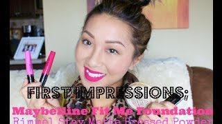 first impressions maybelline fit me foundation rimmel stay matte pressed powder wet n wild