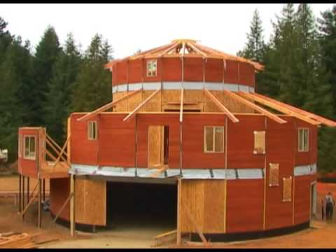 Building the round house in crescent city california youtube for How to build a house in california
