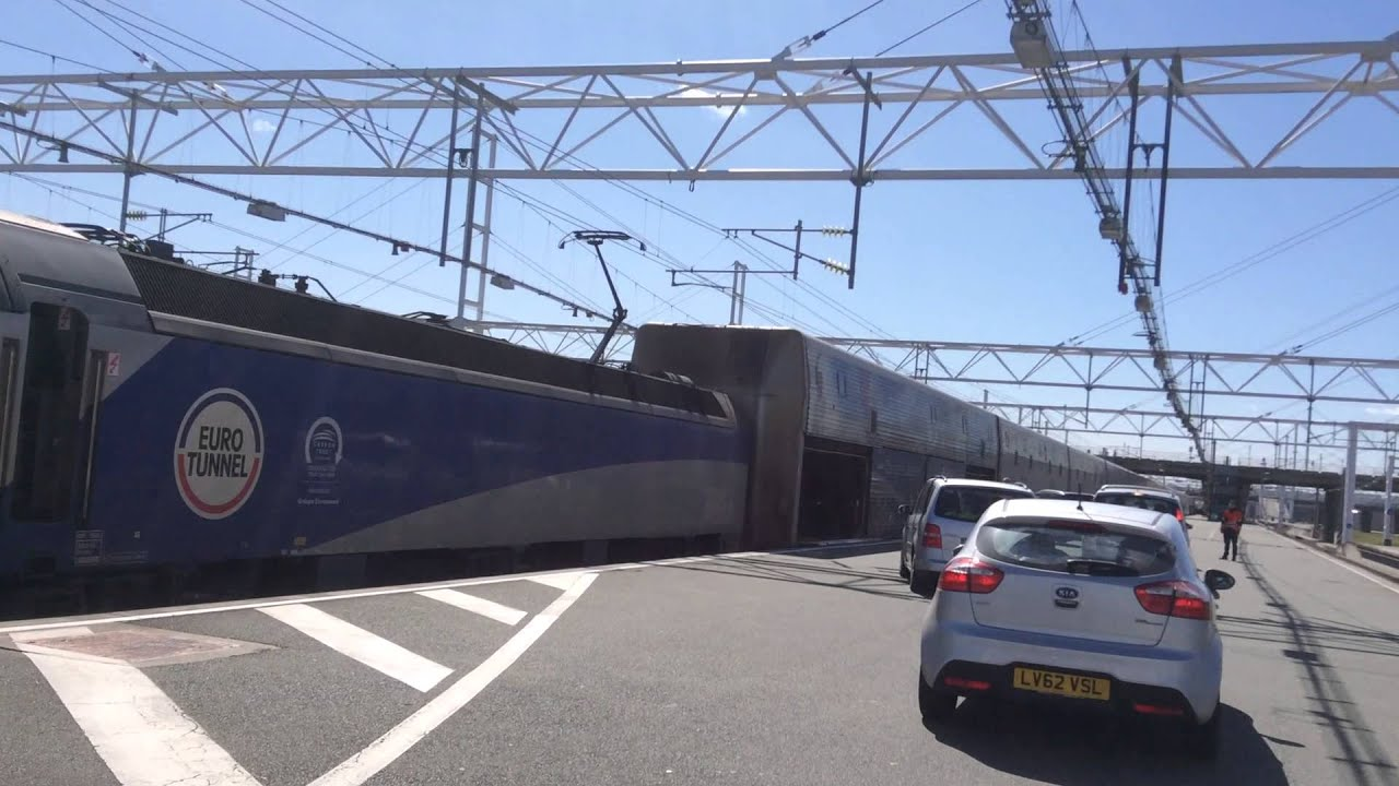Eurotunnel Driving On Board The Train Calais Dover Youtube