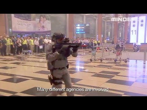 Singapore MOD - Counter-Terrorism Exercise At Changi Airport Terminal 3 [720p]