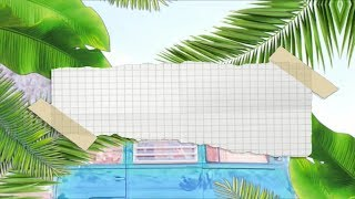 Summer Tropical leaves Intro Template ( no text) JayLucas Editing