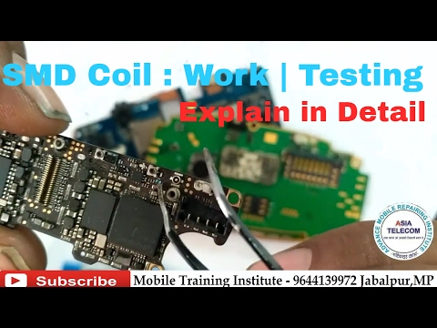 [Hindi/urdu] SMD Coil | Work | How to Test Coil  Boost Coil |Check Coil on  Mobile PCB |Asia Telecom