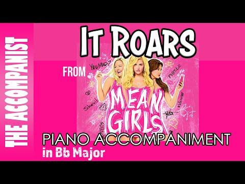 It Roars - from the Broadway Musical 'Mean Girls' - Piano Accompaniment - Karaoke