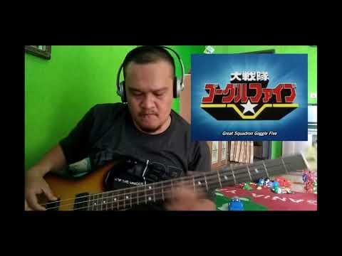 Dai Sentai Goggle V Opening Full Theme bass Cover