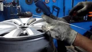 Сварка аргоном диска и правка(ремонт литого диска стрелковая 14 СТО