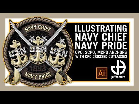 Illustrating Navy Chief Navy Pride (CPO, SCPO & MCPO Fouled Anchors) In AI | Jeff Hobrath Art Studio
