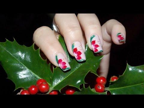 One stroke de nol christmas nail art youtube one stroke de nol christmas nail art prinsesfo Gallery