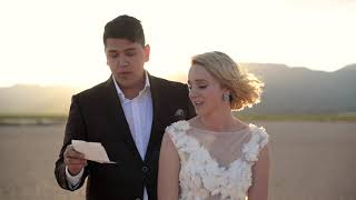 Pop up Wedding Elopement at the Eldorado Dry Lake Bed in Boulder City, Nevada