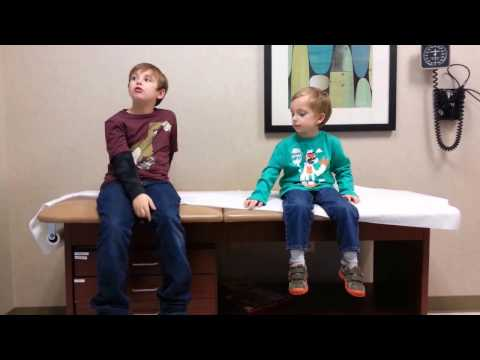 Funny Kids talk about Flu Shot Mist 4 and 8 year old laugh