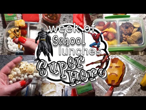 Week Of Super Hero School Lunches // Lunch Box Ideas // Kid's School Lunches
