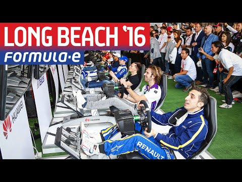Formula E Simulator eRace LIVE From Long Beach