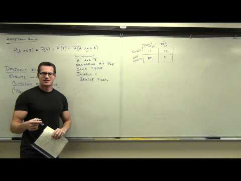 Statistics Lecture 4.3: The Addition Rule for Probability