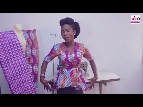 Throwback: How To Cut And Sew Wrap Blouse (Overlap) With High Low Flare