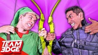 Real Life Bow And Arrow Battle!! thumbnail