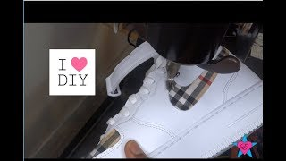 DIY ~ How to Sew Fabric onto Nike Air Force 1 - Part 2
