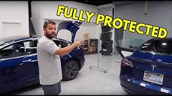 TWO BLUE TESLA MODEL 3 GET PROTECTED | Orlando FL | #001 Window Tint and Clear Bra Paint Protection