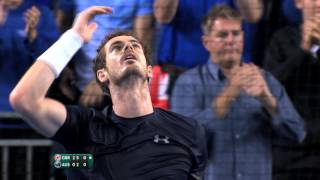 Andy Murray (GBR) takes Great Britain into the Davis Cup Final