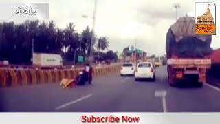 Viral Video : 5 year Old Kid In Bike After Accident Knocks Off Parents.