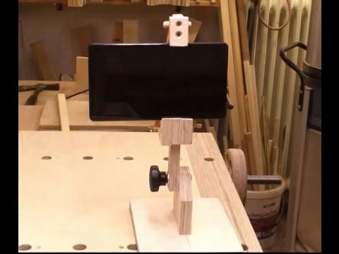 scrap wood project - DIY Phone and tablet tripod