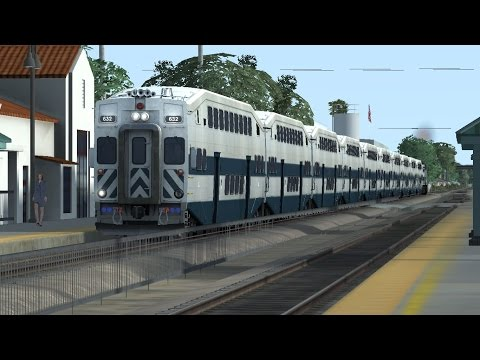 Train Simulator 2015 HD: Long Metrolink 10 Car Trains On The Orange County Line (GO Transit Style)