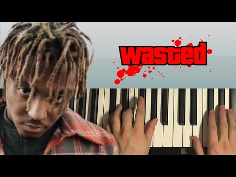 How To Play - Juice WRLD – Wasted (PIANO TUTORIAL LESSON)