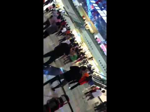 Stingray boyzz do Dah Zumba in Micronesian Mall at guam