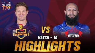 Deccan Gladiators vs Karnataka Tuskers I Day 4 Match 10 I Aldar Properties Abu Dhabi T10