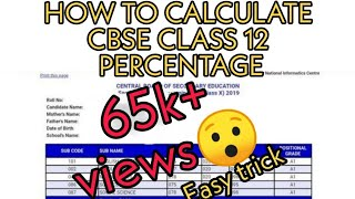 How to calculate CBSE class 12th percentage and cutoff for each subject