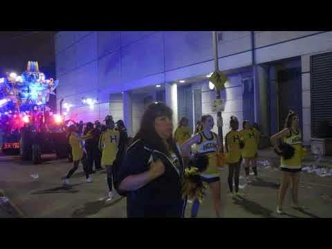 L W Higgins High School Marching Band (2018) Mardi Gras Parade
