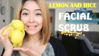 Pampaputi|Natural Skin Whitening Home Remedies Lemon and Rice Facial Scrub|Emmas Veelog