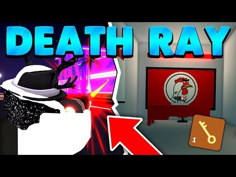 FASTEST WAY TO GET THE DEATH RAY *GOLDEN KEY* (ROBLOX MAD CITY UPDATE)