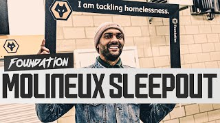 Inside the Wolves Foundation Molineux Sleepout - over £35,000 raised so far to tackle homelessness.