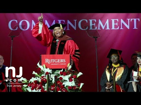 Queen Latifah speaks at Rutgers-Newark Commencement