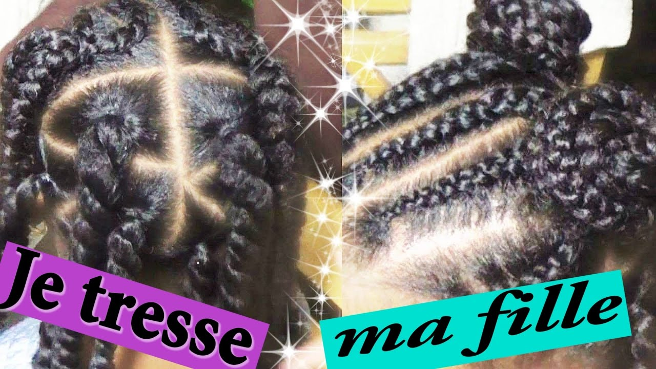 Coiffure Tresse Enfant Simple Youtube