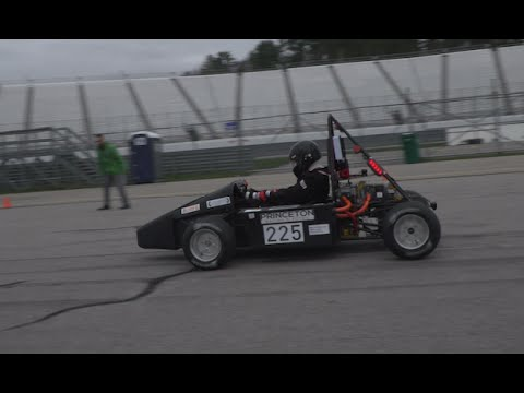 Princeton Racing Electric designs sustainable car