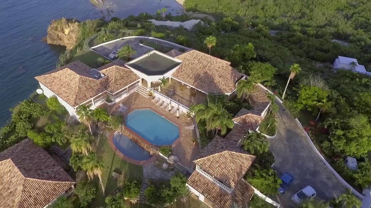 villa espirit de la mer aerials - st. martin villa rentals - youtube