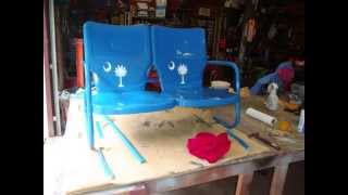 Antique Glider Swing Project